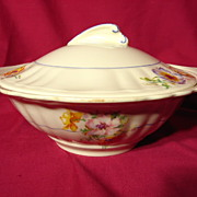 SALE J&G Meakin Sunshine Pansy Pattern Covered Vegetable Bowl
