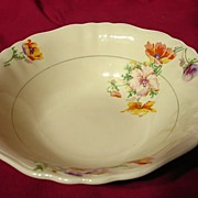 SALE J&G Meakin Sunshine Pansy Pattern Serving Bowl