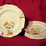 SALE J&G Meakin Sunshine Pansy Pattern Bread And Butter Plates