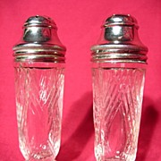 REDUCED Hazel Atlas Starlight Salt And Pepper Shakers