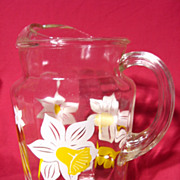 Retro Federal Glass Ice Lip Pitcher