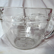 Fire King Crystal 2 Quart Batter Bowl