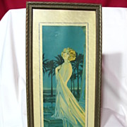 SALE Art Deco Draped Nude Flapper Framed Print