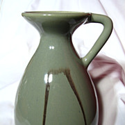 Large Blue Mountain Pottery Celadon Pitcher Vase