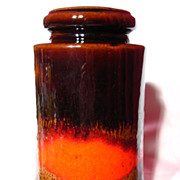 Retro West German Scheurich Fabiola Glaze Vase ~ 549-21