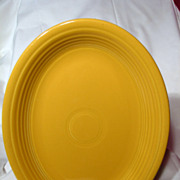 Vintage Fiesta Original Yellow Oval Platter