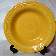 Vintage Fiesta Original Yellow Flat Soup Bowl