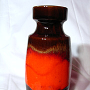 Retro West German Scheurich Fabiola Glaze Vase ~ 210-18