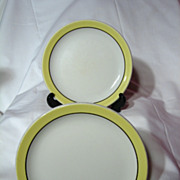 Pair Grindley China Canadian National Railroad Salad Plates