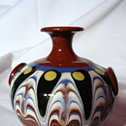 Vintage Troyan Pottery Miniature Vase