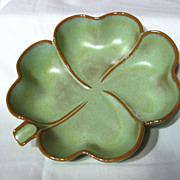 Frankoma Prairie Green 4 Leaf Clover Dish