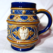 Marzi Remy Majolica Satyr Stein