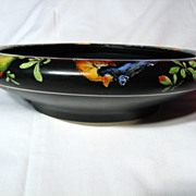 Vintage Crown Ducal Pomegranate Black Low Bowl