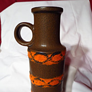 Retro West Germany Scheurich Fat Lava Vase ~ Model 401-28