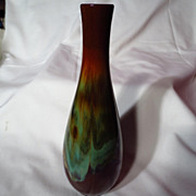 Vintage CCC Canadian Ceramic Craft Flame Bud Vase