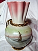 Hollywood Regency Italian Art Pottery Luster Vase