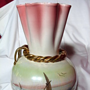 REDUCED Hollywood Regency Italian Art Pottery Luster Vase