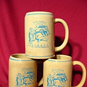REDUCED New Medalta Ceramic Winnipeg Press Club Beer Mug Trio