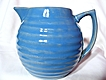 Bauer Delph Blue Ringware 2 Quart Pitcher
