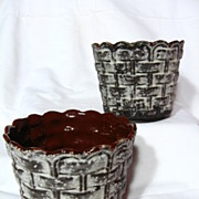 SALE Carstens Fat Lava Basketweave Planting Pots