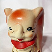 SALE Walt Disney American Bisque Leeds Pottery Dumbo Sugar Bowl