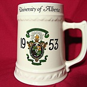Nassau China University Of Alberta Fraternal Beer Stein ~ 1953