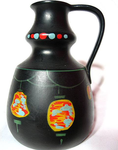 Brentleigh Ware Chinese Lantern Decorated Pitcher Vase ~ Tara