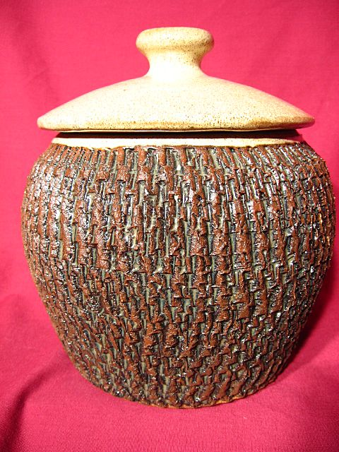 Russ Baldwin ~ Enfin Pottery Covered Canister
