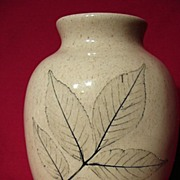 REDUCED Unusual Nemadji Oak Leaf Vase