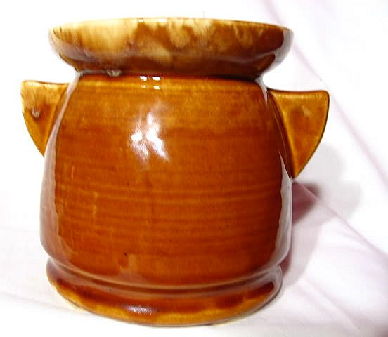Brush McCoy Caramel Tab Handled Vase