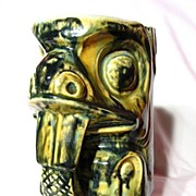 SALE Native American Studio Pottery West Coast Beaver Totem Stein