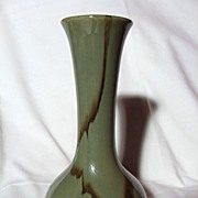 Blue Mountain Pottery Celadon Trumpet Vase
