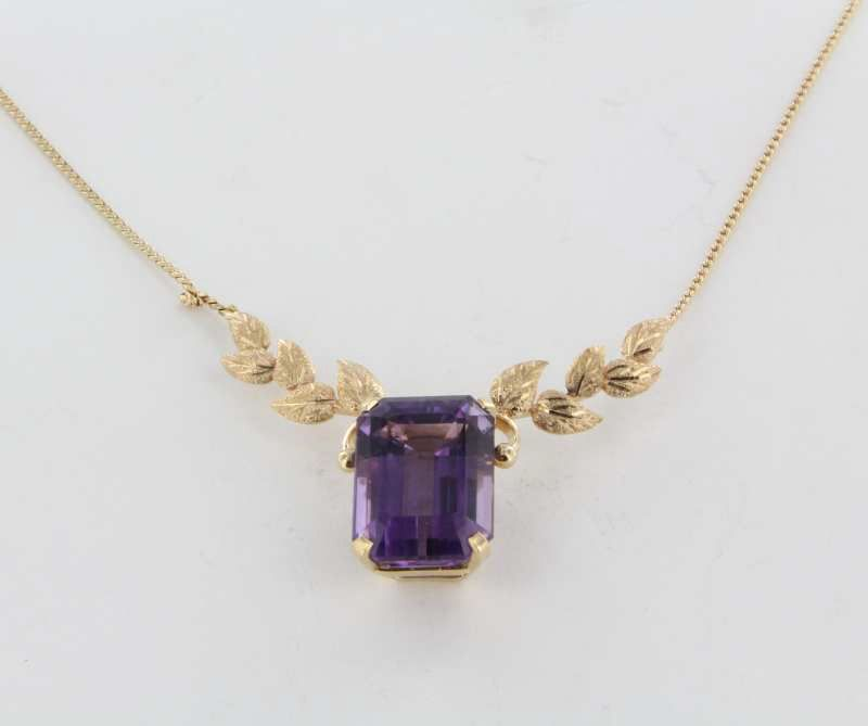 Item ID: 13677 Vintage Amethyst Drop In Shop's Backroom