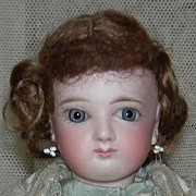 "All Original - Jumeau French Fashion Child - French Antique Doll - 14"" - Kid Body - Origi"