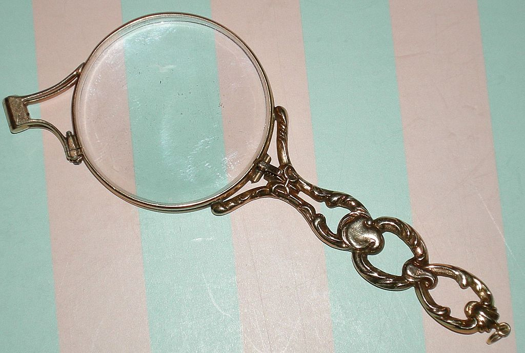 Antique 14K Gold - Lorgnette - Fancy Yellow Solid Gold ...