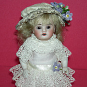 "All Bisque - 6"" - Antique German Doll - Swivel Head - Heavy Leg w/ Skinny Ankles!!!"