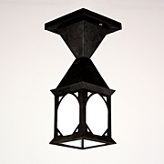 Delightful Antique Arts & Crafts Exterior Lantern, Flush Mount