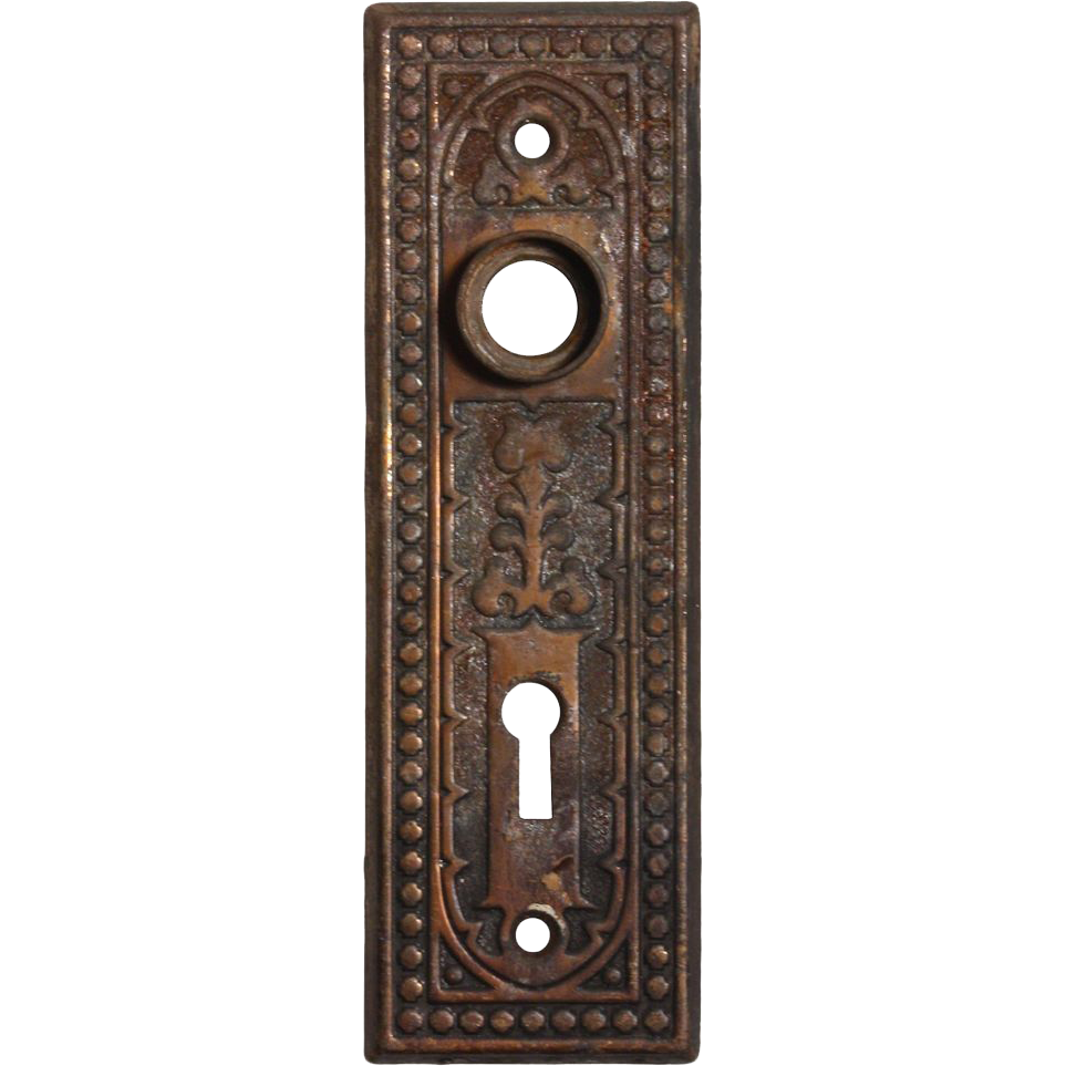 antique eastlake quot century quot doorplates by russell erwin early 1900 39 s from preservationstation on
