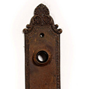 Antique Cast Iron Geneva Door Plates, Barrows Lock Co., Early 1900s