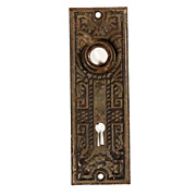 Antique Eastlake Door Plates with Striking Graphic Design