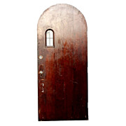 Antique Tudor 36� Arch Entry Door with Arched Window