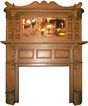Amazing Antique 1870�s Heart Pine Mantel, Original Faux-Grained Finish, Aesthetic Movement