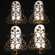 Four Matching Antique Georgian Dore Bronze Sconces -- ONE PAIR AVAILABLE