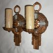 Glowing Pair of Antique Art Deco Sconces, Signed Puritan