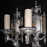 Sparkling Two-Tone Neoclassical Style Sconces