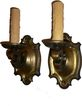 Fabulous Pair of Antique Neoclassical Cast Brass Sconces, Early 1900�s