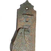 Fabulous Antique Cast Bronze Door Pull Set with Thumb Latch, Aesthetic Movement, 1880�s