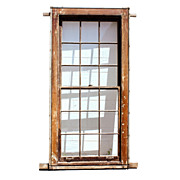 Antique Early 1800s Federal Windows with Wavy Glass & Window Weights  17 AVAILABLE