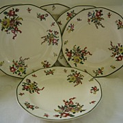 "Set of Six 7"" Royal Doulton Plates Circa 1912 -Pattern Old Leeds Sprays"