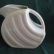 Vintage White Pottery 1950's Pitcher